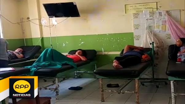 Pacientes con dengue en Tumán