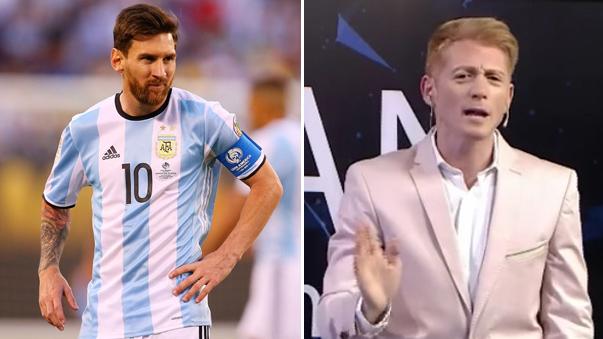 Messi en la mira del controvertido periodista argentino.
