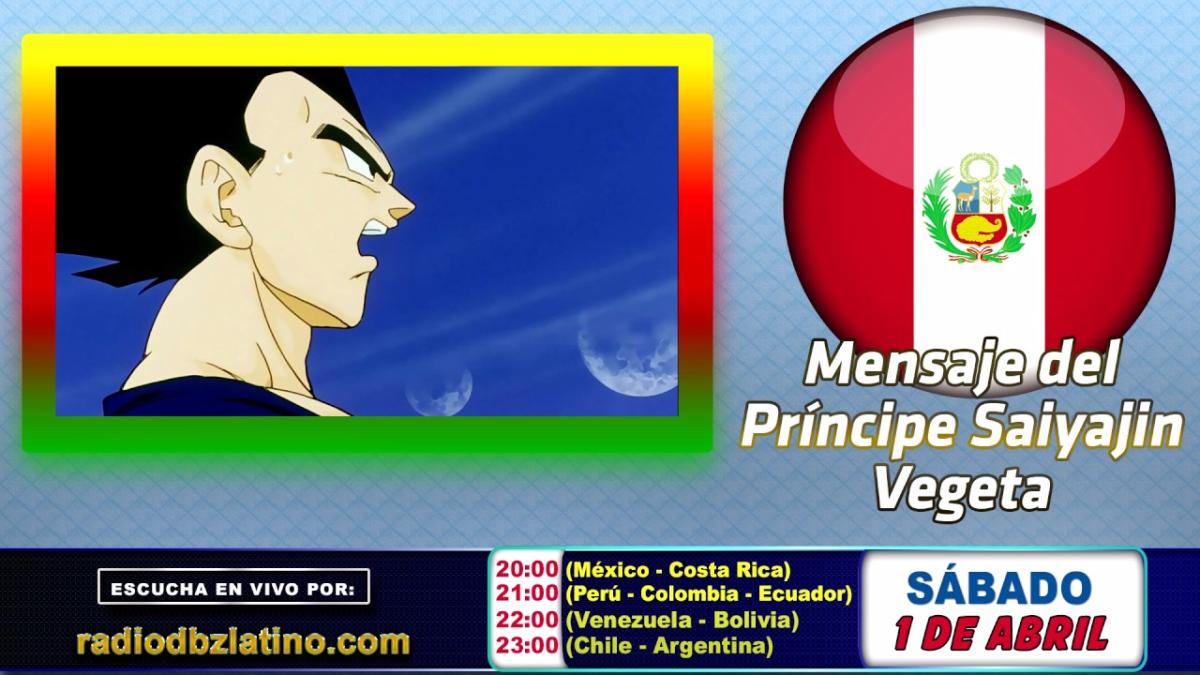 Esta semana el actor René García (voz de Vegeta) mandó un mensaje de apoyo a Perú.