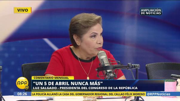 También aclaró que no era parlamentaria cuando Alberto Fujimori ordenó el cierre del Parlamento.