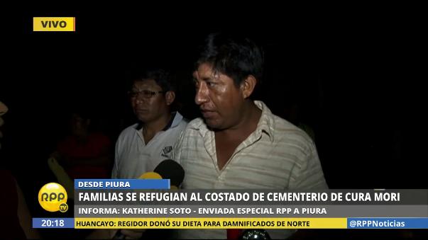 Familias piden ayuda a las autoridades en Cura Mori