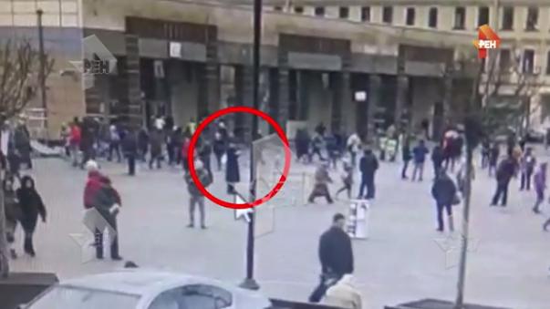 Las cámaras de seguridad captaron al sospechoso del atentado.