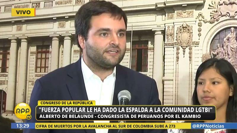 Alberto de Belaunde cuestionó la decisión de los congresistas fujimoristas en la Comisión de Constitución.