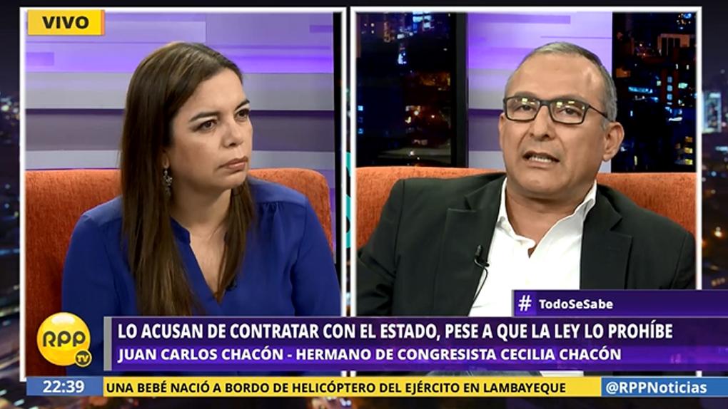 Juan Carlos Chacón es acusado de licitar con el Estado pese a que la ley lo prohíbe.