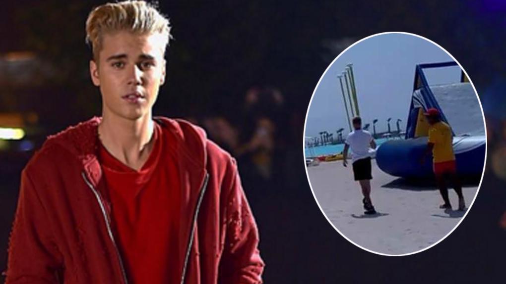 Justin Bieber llegó a Perú el martes y partió a Asia a disfrutar de la playa.