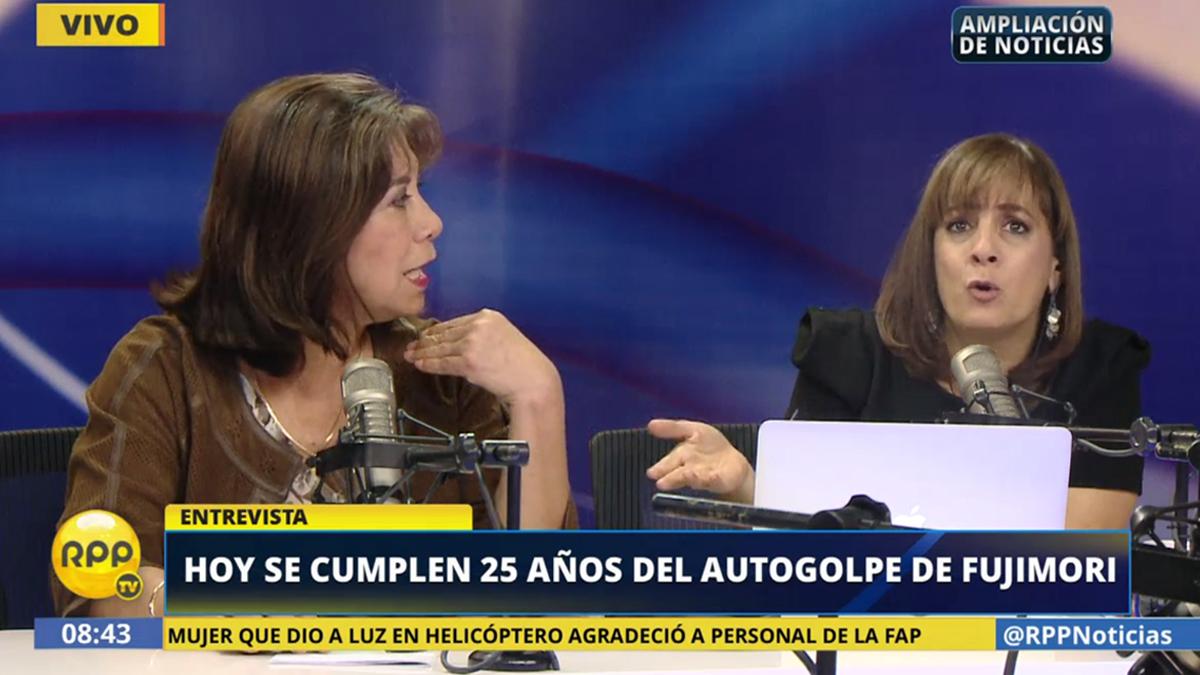 Martha Chávez y Patricia del Río tuvieron este debate sobre el 5 de abril.