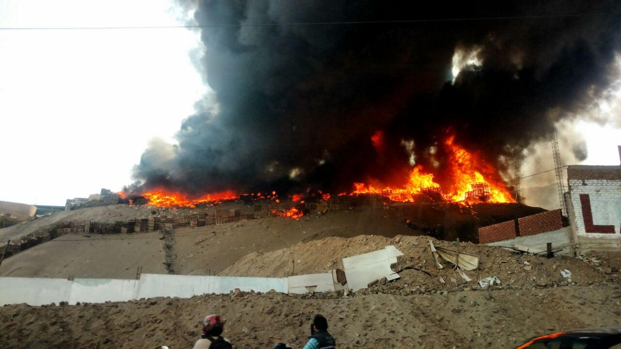 Incendio en Ventanilla.