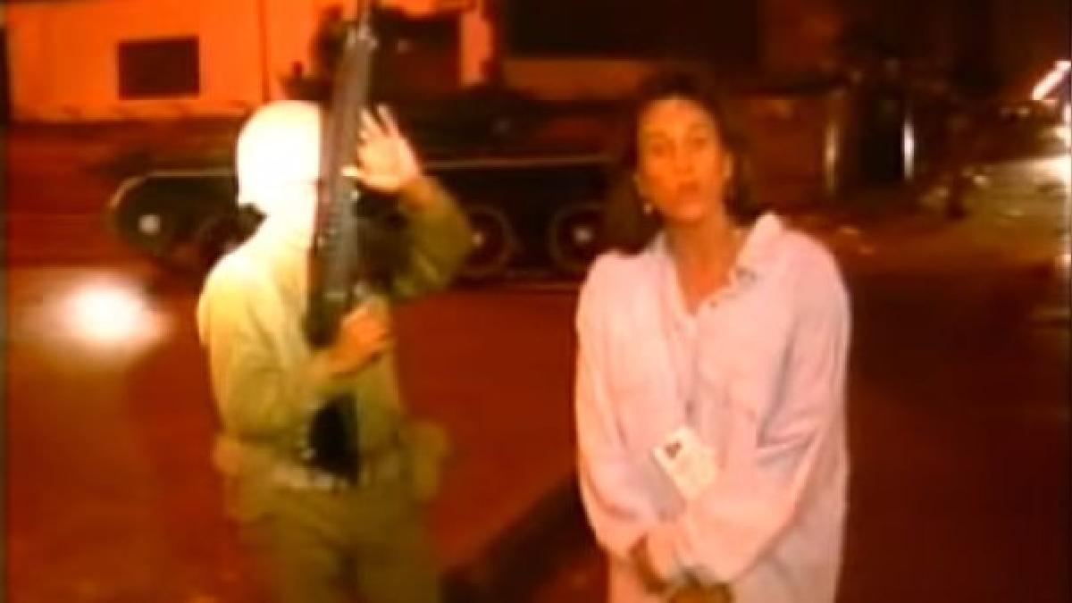 La cadena Univisión fue una de las pocas que grabó imágenes de lo ocurrido en las calles de Lima durante el autogolpe.