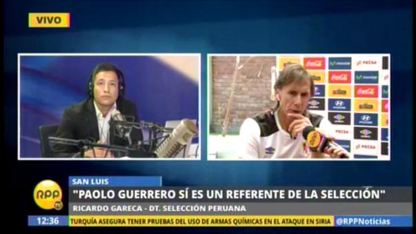 Ricardo Gareca brindó una entrevista exclusiva a RPP Noticias.