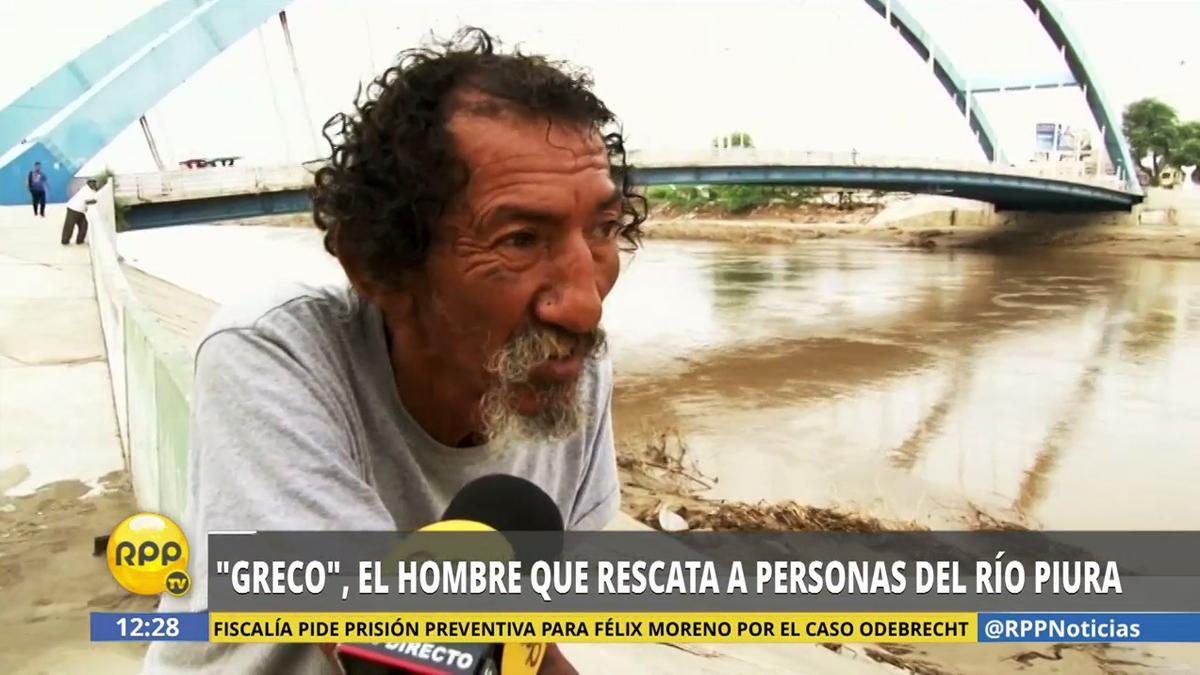 El 'Greco' junto al río Piura. En marzo, las lluvias provocaron inundaciones en varias zonas de la ciudad, entre estos su barrio de Castilla.
