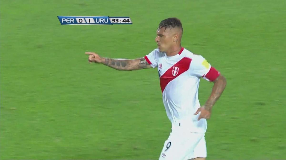 El gol de Paolo Guerrero a Fernando Muslera.