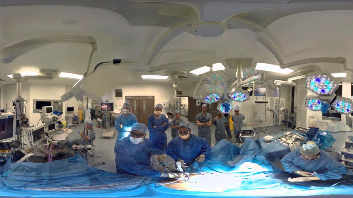 Un ejemplo de cirugías de prueba usando la realidad virtual.