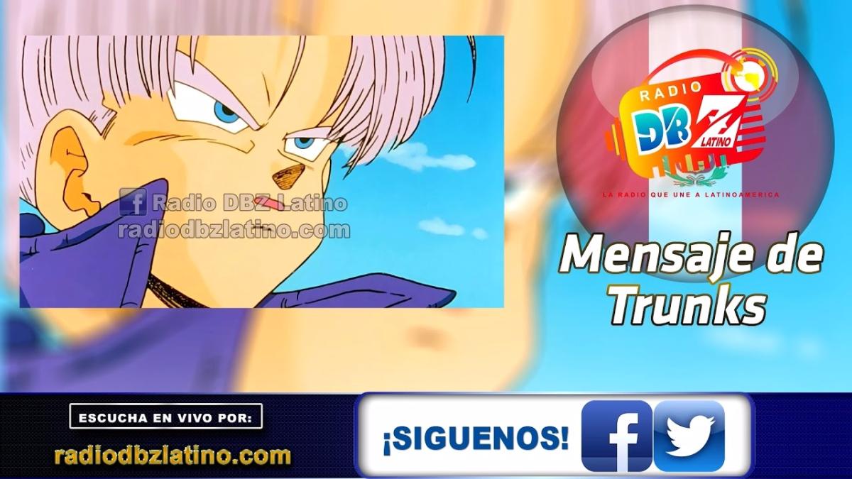Mensaje que envía Sergio Bonilla, voz de Trunks.