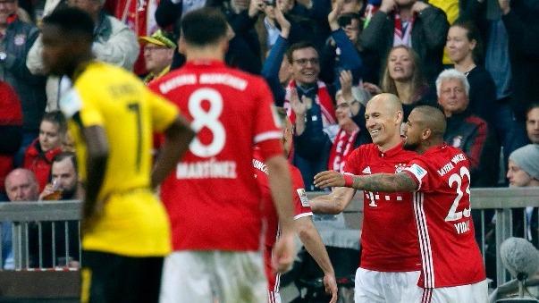 Revisa aquí todos los goles de la victoria por 4-1 del Bayern Munich al Borussia Dortmund.