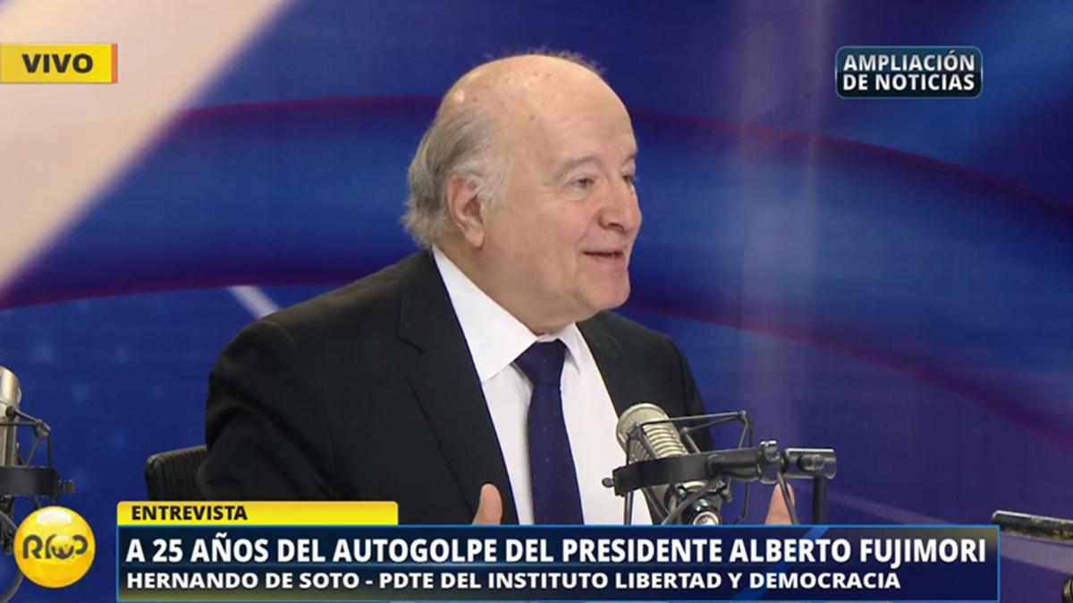 Hernando de Soto presentó la conversación entre Fujimori y Bush y contó cómo esta se dio.