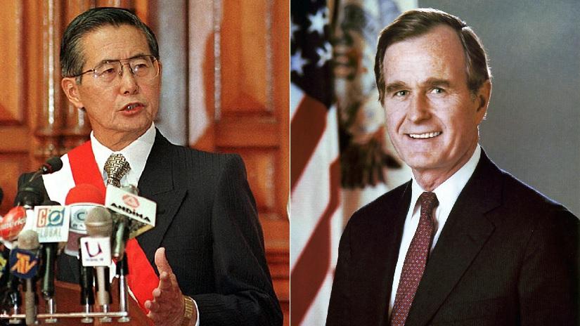 Bush y Fujimori eran presidentes de Perú y EE.UU. cuando se dio el golpe del 5 abril de 1992.