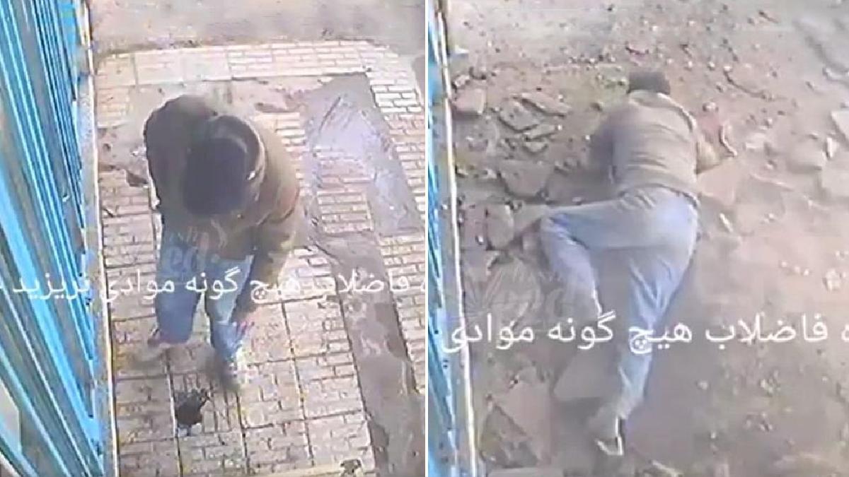 El video fue registrado por el pasado 29 de marzo en una calle de Teherán.