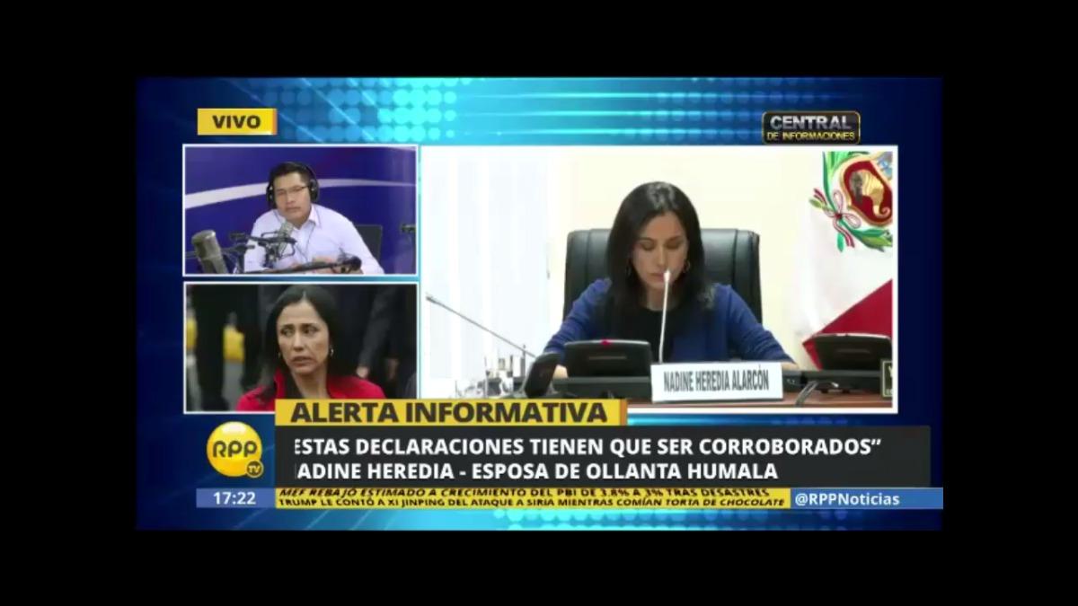 Nadine Heredia rechazó las declaraciones de Marcelo Odebrecht.
