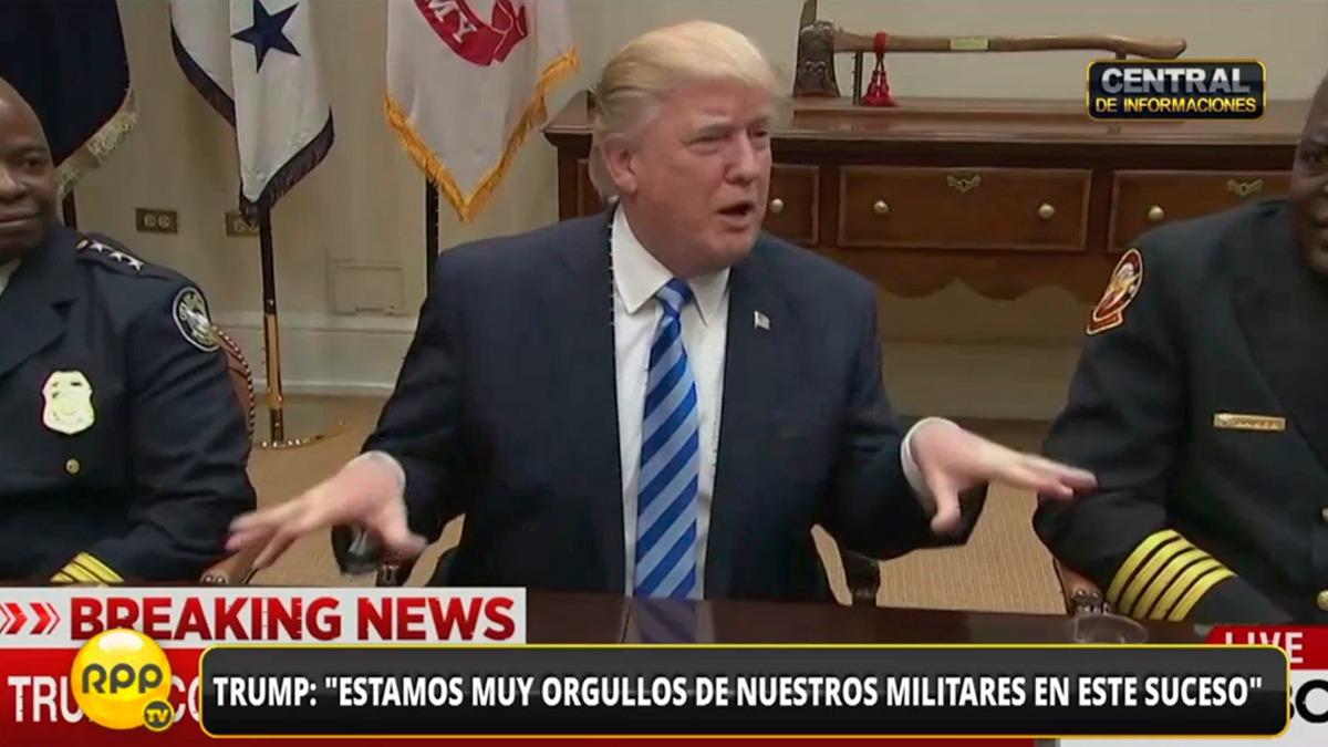 Trump habló con la prensa sobre el ataque en Afganistán.