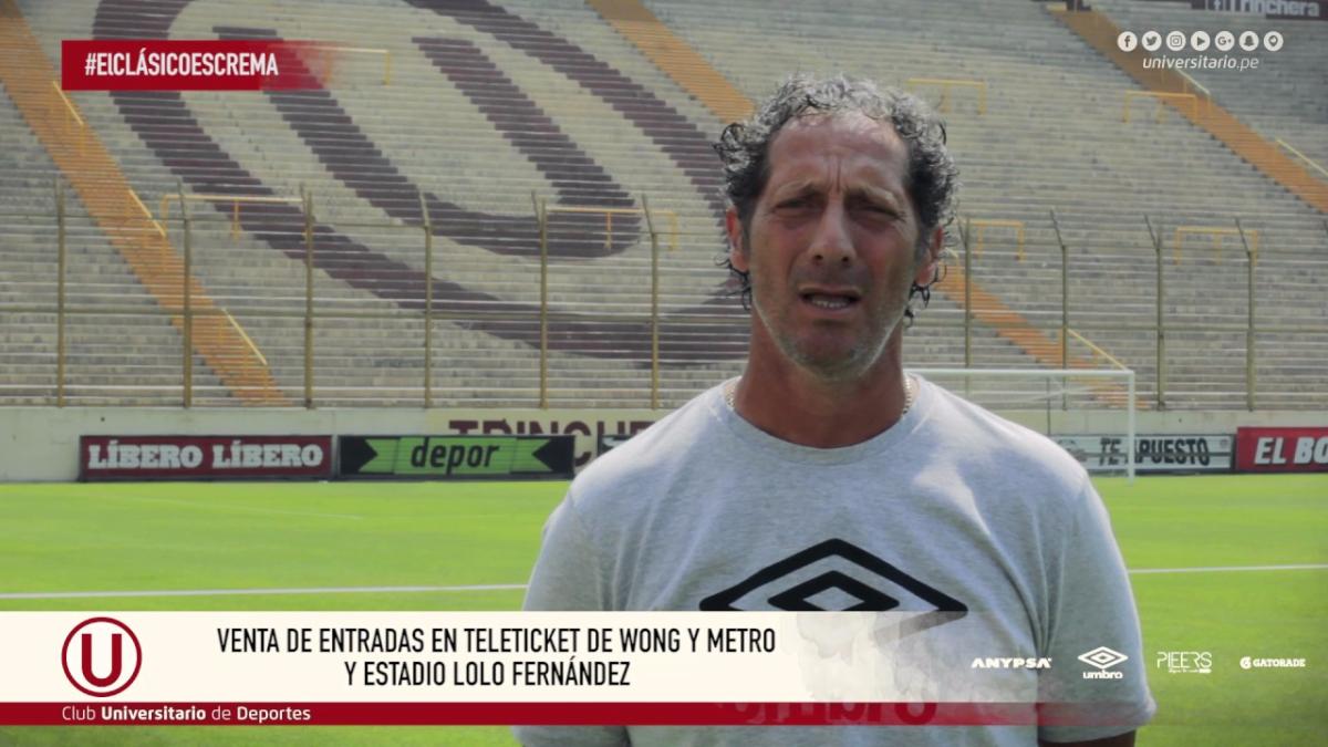 La invitación de Pedro Troglio a los hinchas de Universitario al clásico.