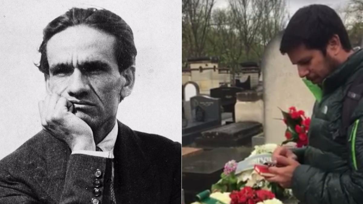 Renato Cisneros visitó la tumba de César Vallejo en París en el aniversario 79 de su muerte.