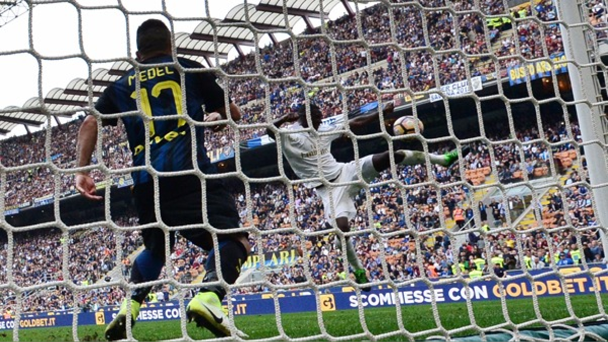 Así fue el gol de Zapata en el clásico ante el Inter.