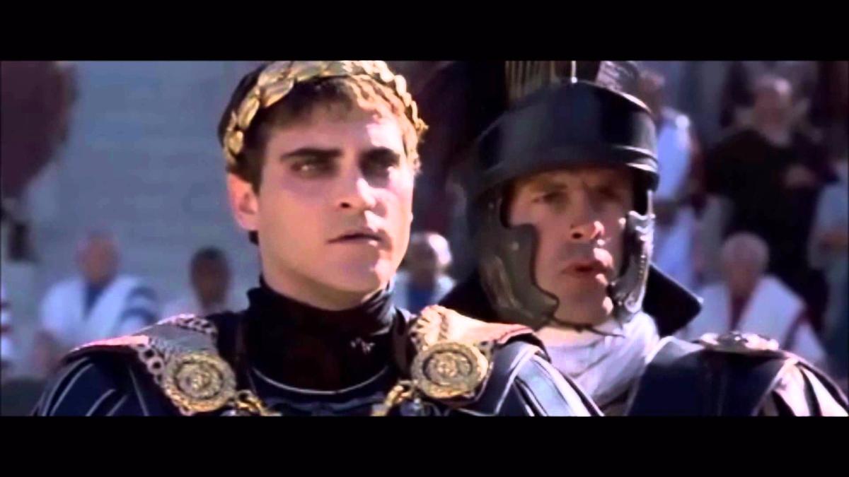 Joaquín Phoenix interpretó al emperador Comodo.