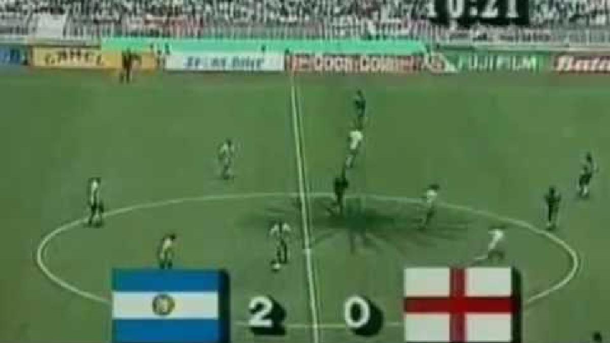 Mira aquí el gol de Diego Maradona a Inglaterra.