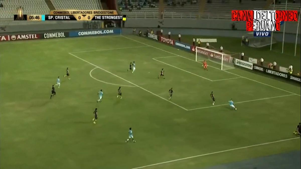 Sporting Cristal solo tuvo esta ocasión clara de gol en los primeros 45 minutos.