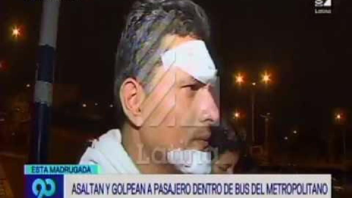 El pasajero fue golpeado por los asaltantes.