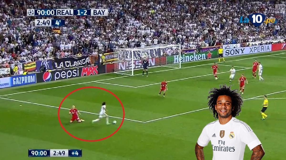 Marcelo hizo este lujo en un momento candente del partido.