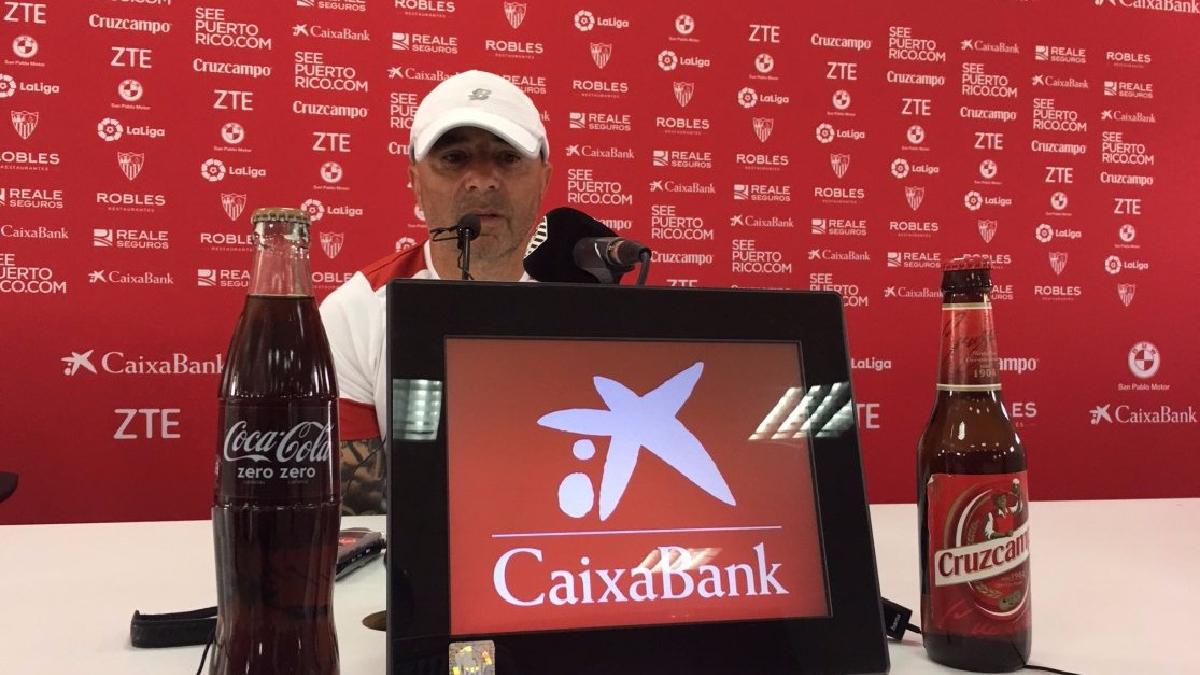 Jorge Sampaoli es técnico del Sevilla desde 2016.