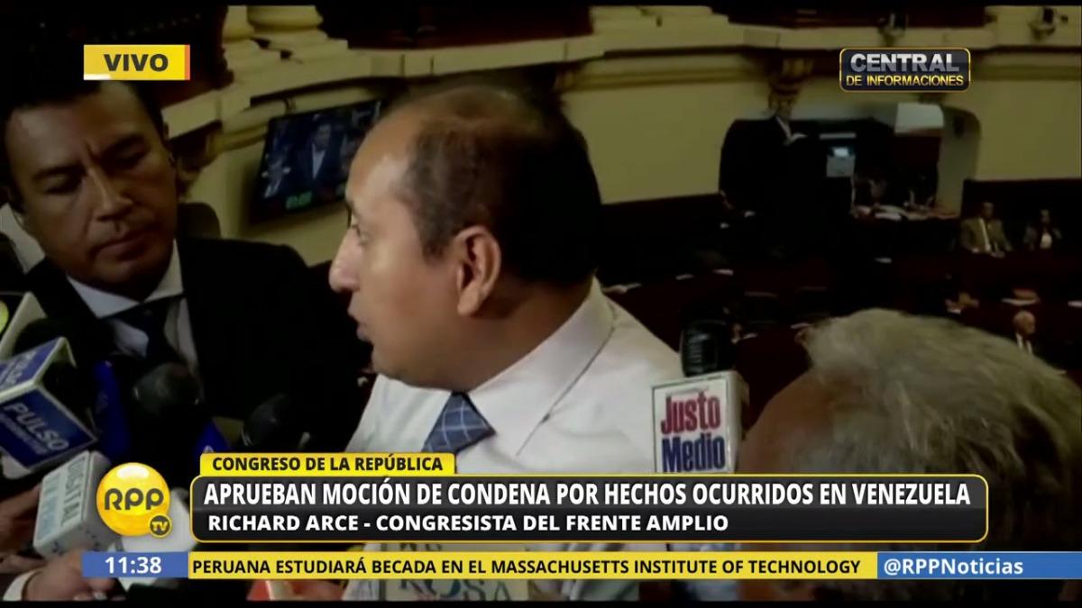 Richard Arce explicó así su voto a favor de la condena a la crisis en Venezuela y dijo que en su bancada hay posiciones divergentes sobre el tema.