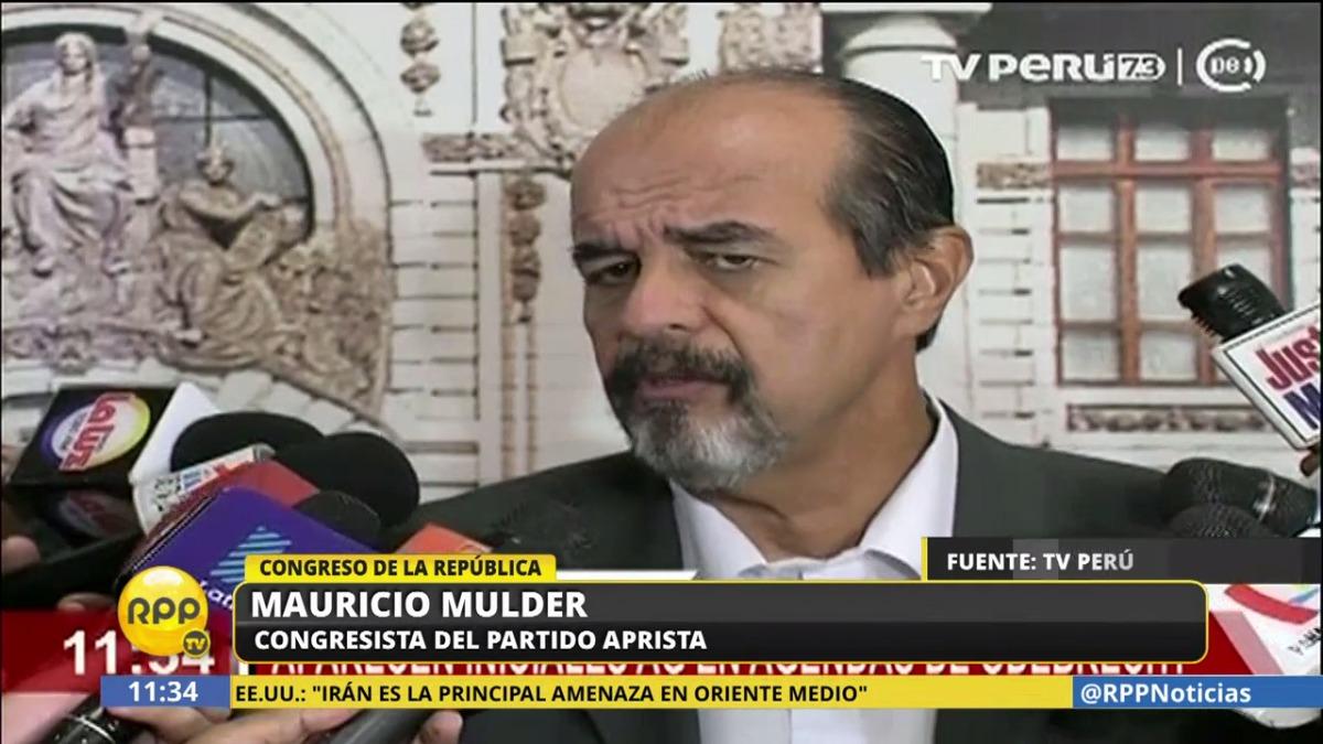 El congresista aprista Mauricio Mulder dijo estar tranquilo tras la revelación sobre García.
