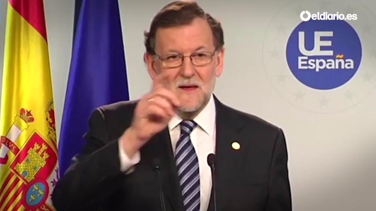 El presidente español Mariano Rajoy también evadió una pregunta en inglés de un periodista de la BBC en marzo de este año.