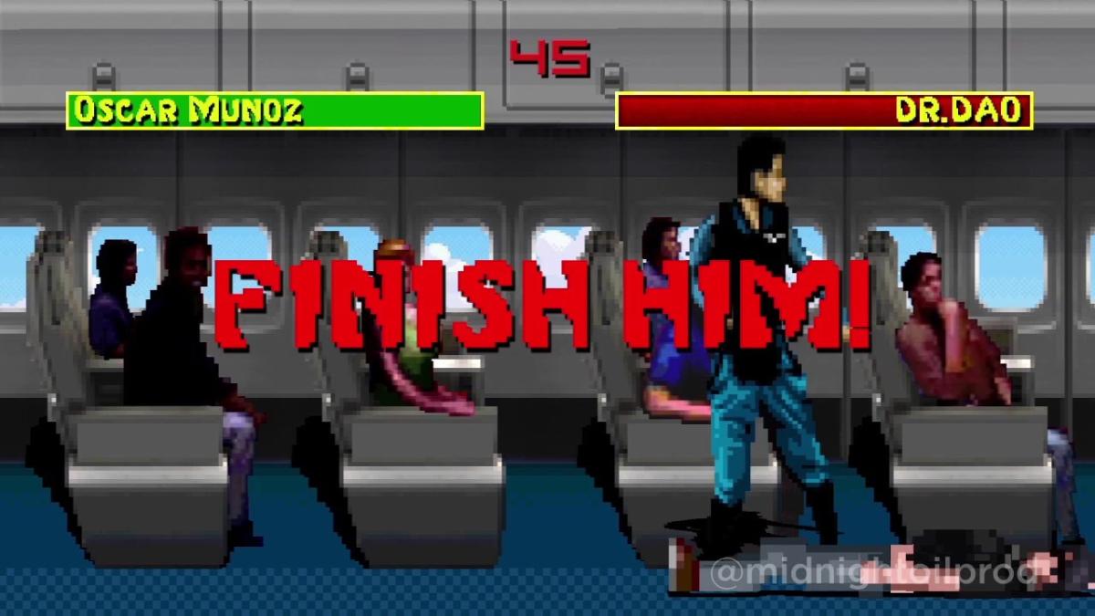 El CEO de United Airlines golpea brutalmente a David Dao en esta parodia de Internet.