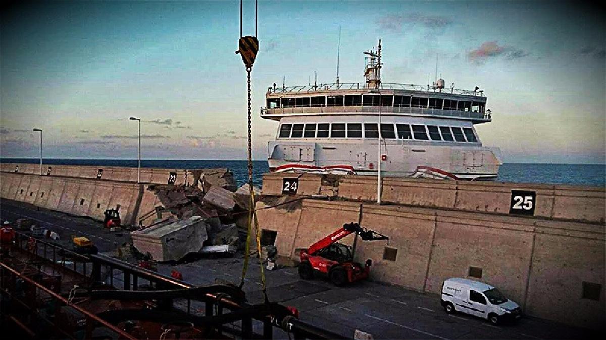 El accidente se produjo por una falla del sistema eléctrico del buque.