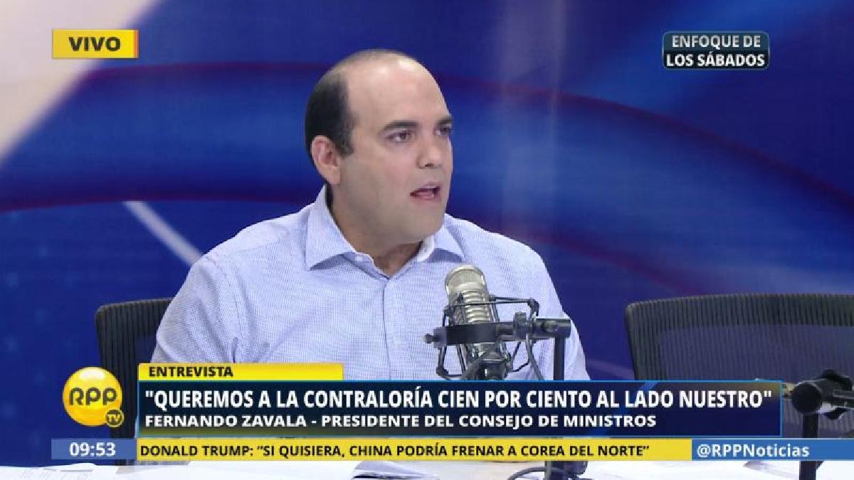 Fernando Zavala dijo que se barajan varios nombres para ocupar el cargo de director ejecutivo de la Autoridad para la Reconstrucción.