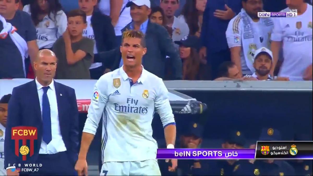 Cristiano Ronaldo no anotó en el Clásico ante Barcelona en el Santiago Bernabéu.
