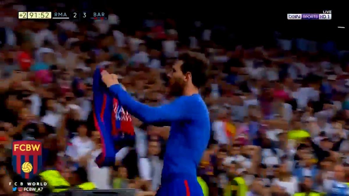 Video | La épica celebración de Lionel Messi a todo el Santiago ...