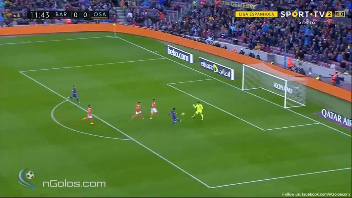 Lionel Messi marcó su gol 501 con la camiseta del Barcelona.