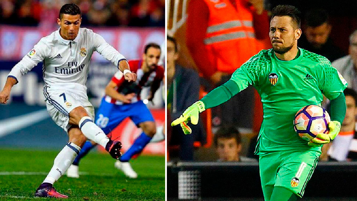 El portero del Valencia tiene una buena racha cuando enfrenta a Cristiano Ronaldo.