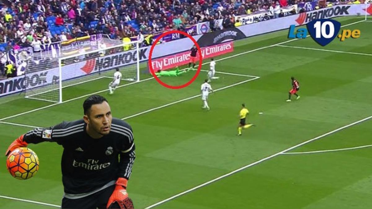 Real Madrid se salvó en el primer minuto de juego.
