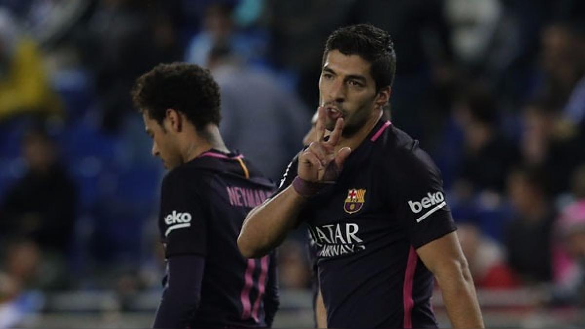 Luis Suárez fue la gran figura de Barcelona ante Espanyol.