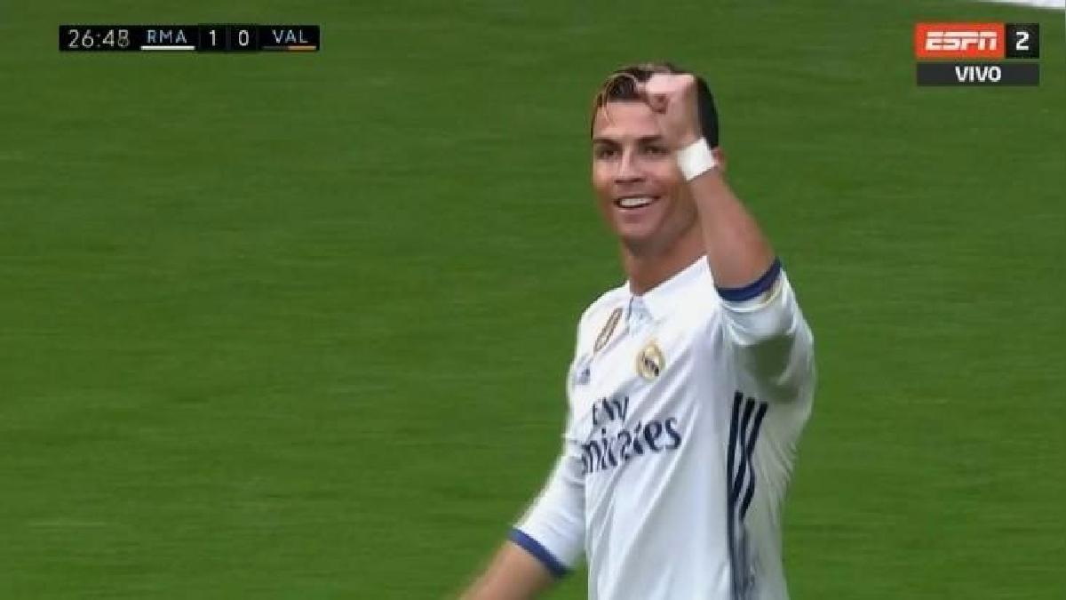Cristiano Ronaldo llegó a su gol número 20 en la Liga Santander.