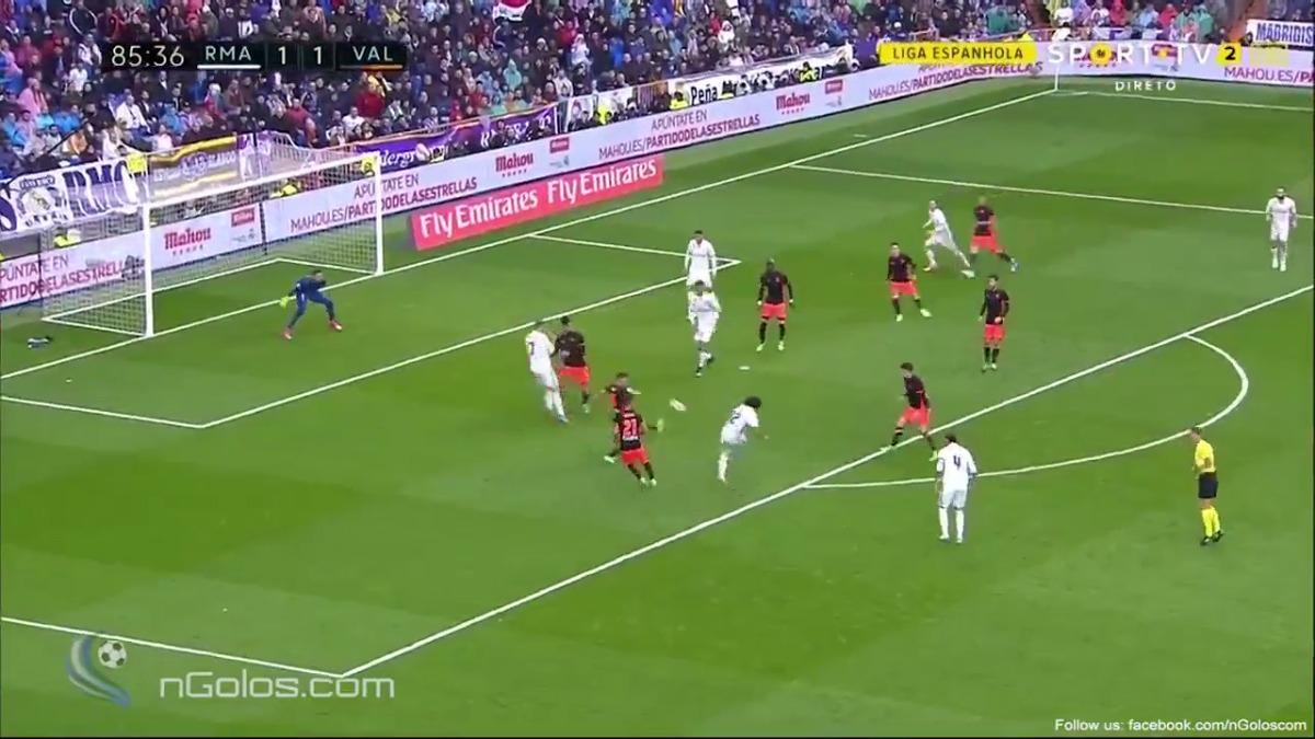 Marcelo no marcaba en La Liga en el Bernabéu desde el 17.10.2015 (al Getafe).