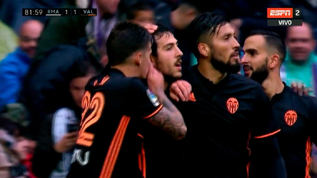 Dani Parejo marcó un golazo en el minuto 81'.