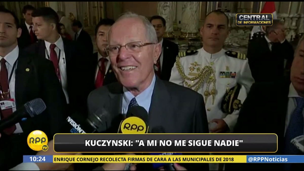 Kuczynski se pronunció brevemente sobre la denuncia del ministro de Defensa.