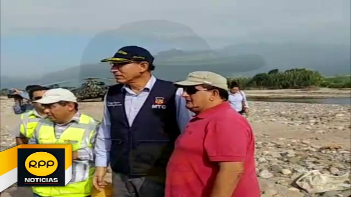 Ministro de Transportes y Gobernador Regional de Lambayeque, supervisaron situación de puentes en la región