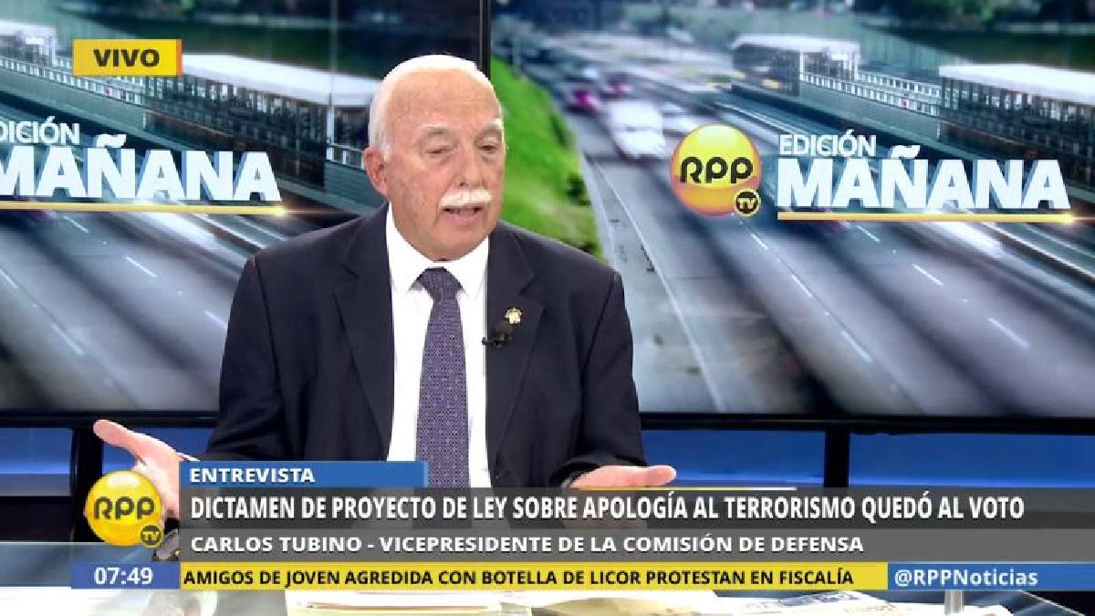 Carlos Tubino cuestionó la inacción policial al ver a los prosenderistas marchando.